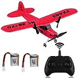 Makerstack Avión RC FX-803 RTF Avión RC 2.4GHz 2CH Gyro Incorporado de 6 Ejes EPP Control Remoto Planeador de avión Fácil de Volar para Principiantes Adultos Niños (Rojo)