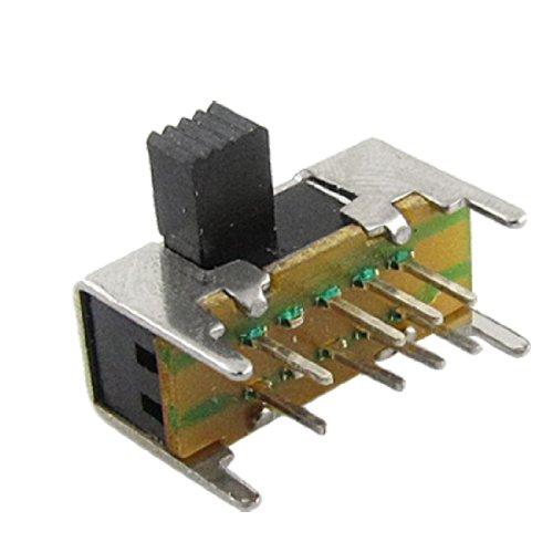 10 Piezas x Panel PCB 8 Pines 3 Posiciones 2P3T DP3T Interruptor Deslizante Side Pomo