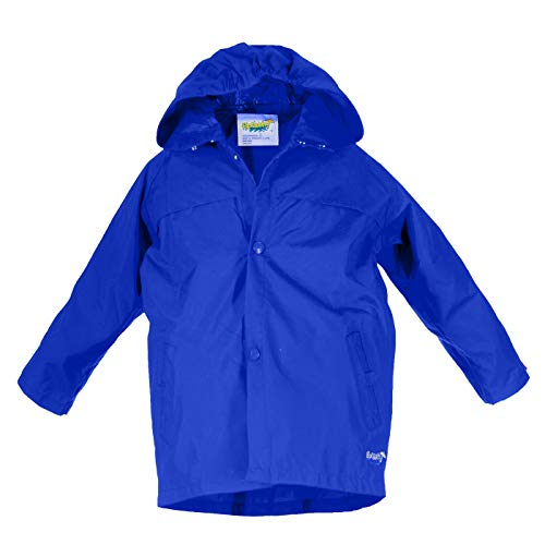 Splashy Nylon Children's Rain Jacket (2T, Royal Blue)