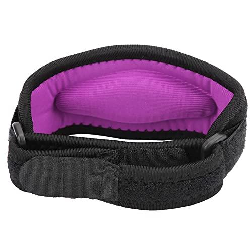 Jopwkuin Soporte de Codo, Coderas elásticas con diseño de Gancho y Bucle aliviar la presión Ámbito de aplicación Efecto Fácil de Usar Diseño Ajustable de Gancho y Bucle para bádminton(Purple)