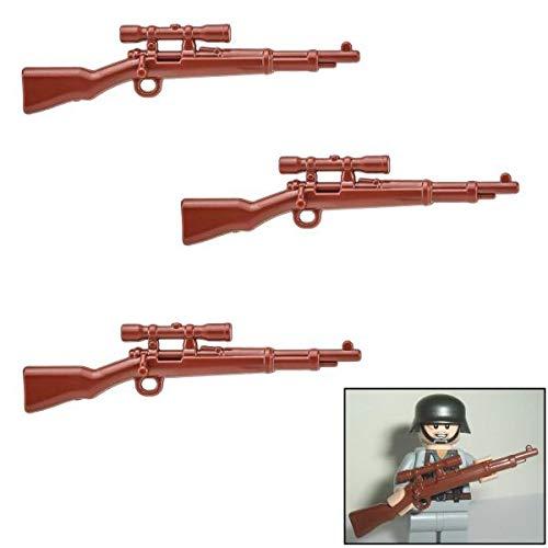 3X K98k Scharfschützen Gewehr DR WW2 - Custom Soldaten Waffen für Lego Figuren