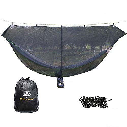 Hammock Bug Net - 12' Hammock Mosquito Net Fits All Camping Hammocks, Compact, Lightweight and Fast Easy Set Up, Security from Bugs and Mosquitoes, Essential Camping and Survival Gear (Black)