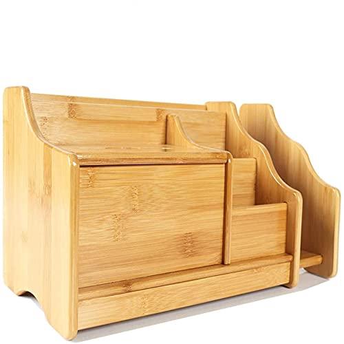 Duży biurko do przechowywania, uchwyt do pióra, półka na książki, drewno pennhållare WSYGHP (Color : Beige)