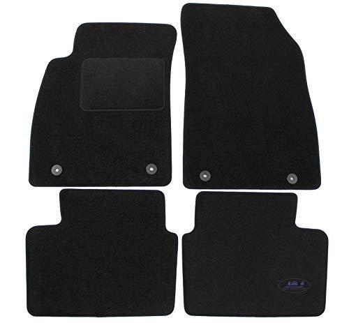 J&J AUTOMOTIVE   Tapis DE Sol Noir Velours Compatible avec Opel Insignia 2009-2016 4 pcs