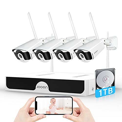 【3MP & AI Human Detection】 Wireless Security Camera System,JOOAN 8...