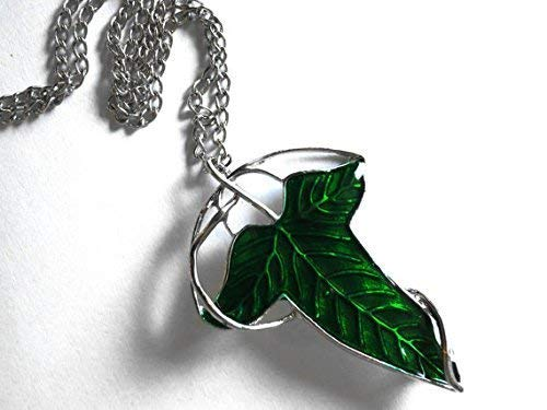 Elvish Leaf Brooch Pin and Necklace - Hobbit Cloak Badge and Necklace for Lord of The Rings Cosplay - Elf Brooch, Fantasy Brooch
