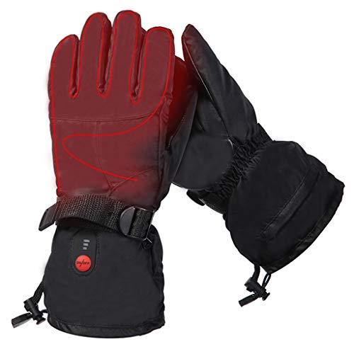 Männer und Frauen elektrische Heizung Handschuhe, Drei-Ebenen-Temperatur verstellbare wasserdicht und kältefeste Handschuhe zum Wandern, Skifahren und Radfahren ( Farbe : Schwarz , Größe : L )