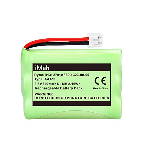 iMah 27910 Cordless Phone Battery Pack Compatible with AT&T 89-1323-00-0 Motorola SD-7501 Vtech 27910 I6725 RadioShack 23-959 Home Handset 3.6V Ni-MH, Pack of 2 Photo #5