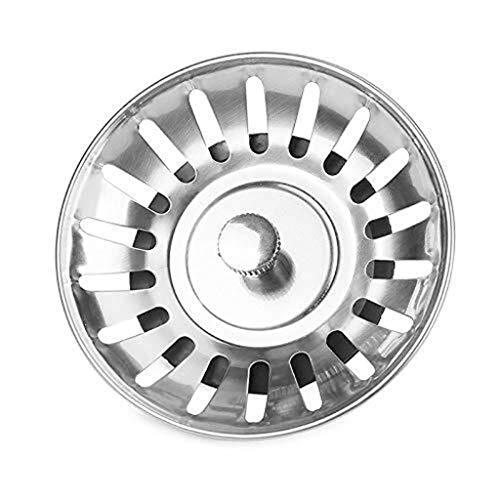 Spüle Stecker, Wasch- oder Spülbecken Sieb, Küche Edelstahl-Spüle, Ausflußpfropfen Korb Filter-Tools, Plug-Loch Haarfänger - Badewanne oder Waschbecken Ablaufabdeckung Edelstahl-Ablauffilter mit