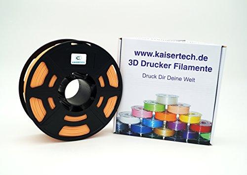 Kaisertech - Filament PLA 1,75mm 1kg Spule 3D Drucker, PLA Filament 1kg Spool 3D Printer 1.75mm - sehr viele Farben - Toleranz beim Durchmesser liegt bei +/- 0,02mm (PLA 1.75mm, Hautfarbe/Skin)