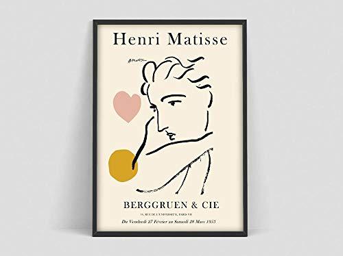 Póster de Henri Matisse, impresión de líneas faciales de Matisse, póster de Matisse Jazz, póster artístico de Matisse, pintura en lienzo sin marco G 50x70cm
