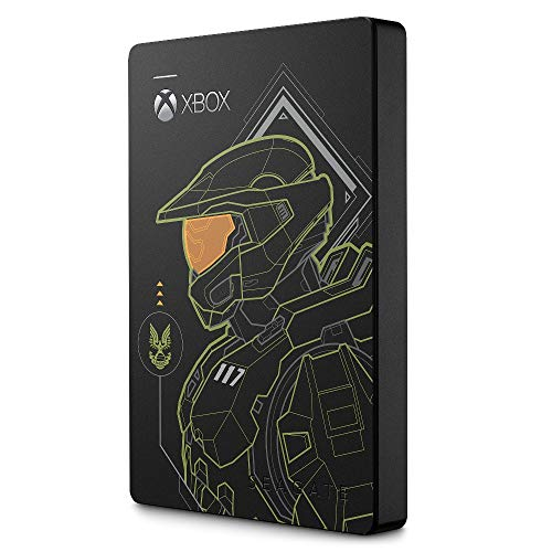 Seagate Game Drive for Xbox Halo Edition, 2 TB, Master Chief Unidad HDD Externa portátil, USB 3.2 Gen 1, diseñada para Xbox One, Xbox Series X y Xbox Series S, 2 Anni di Servizi Rescue (STEA2000431)