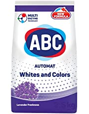 ABC White and Color Automatic Laundry Powder Detergent 12KG, Lavender Freshness Scent, with Multi Enzyme Technology