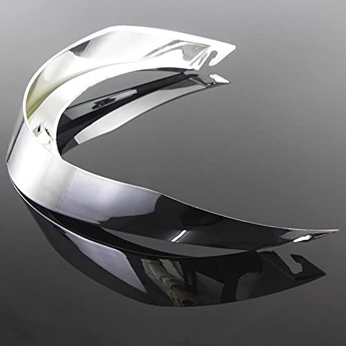Moto Casco Big Tail Spoiler para AGV Pista GRP GP Corsa-R Veloce-S Trasero Partes Y Accesorios Adorno del Casco de la Motocicleta (Color : Silver Plating)