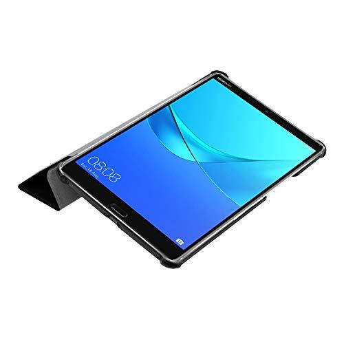 Hülle für Huawei MediaPad M5 8.4 Zoll Schutzhülle Tablet Smart Cover mit Auto Sleep/Wake, Standfunktion und Touchpen Schwarz - 5
