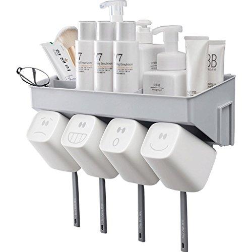 Zahnbürste Rack Badezimmer Wandbehang Lagerung Eitelkeit frei Stanzen Zahnpasta WC Wand Saugnapf Badezimmer Box (größe : B)