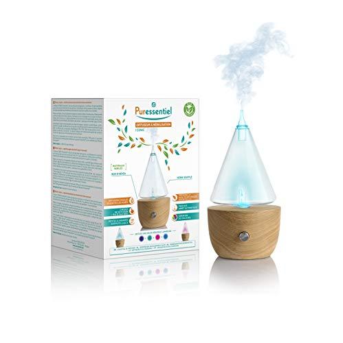 Puressentiel - Diffuseur à Nébulisation Iconi'c - En bois naturel - Diffusion pour huiles essentielles