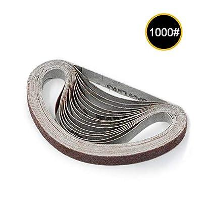 Leepesx 10pcs 10x330mm Abrasive Sanding Belts 1000 Grit Sanding Grinding Polishing Tools for Sander Power Rotary Tools