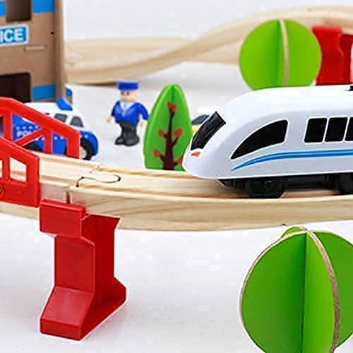Battery Cheap super special price Popular overseas Operated Train Set – Wooden for Toys Toddl and Kids