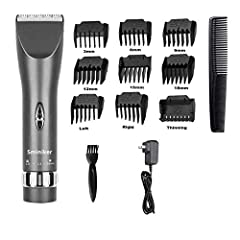 【Hair Clipper】Heavy-duty gear for proper powerful cut, with stable and steady control. The R shaped rounded edge design prevents from accidentally hurting skin. 【Clippers】Titanium blade combining with the ceramic movable blade for efficient and long ...