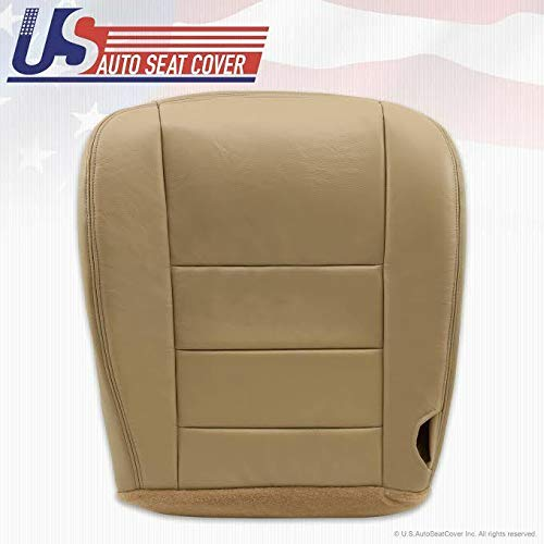 2002-2007 Compatible with Ford F250 F350 Super Duty Lariat Driver Bottom Leather Seat Cover TAN