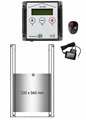 JOSTechnik JT-HK automatische Hühnerklappe 230 x 340 mm mit Zeitschaltuhr & Fernbedienung und echter Nothaltefunktion