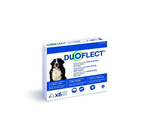 CEVA Duoflect 6 Pipettes de Solutions Anti Puces/Poux/Tiques pour Chien de 40-60 kg