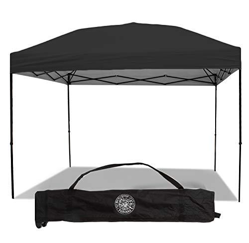 Punchau Pop Up Canopy Tent 10 x 10 Feet, Black - UV Coated, Straight Leg, Waterproof Instant Outdoor Gazebo Tent, Bonus Roller Carry Bag