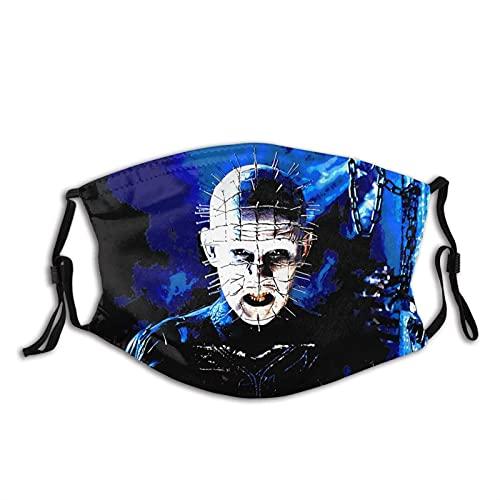 YRUI Hellraiser Unisex-Maske, wiederverwendbar, verstellbar, Staubschutz, Gesichtsdekoration, Schwarz, 1 Stück