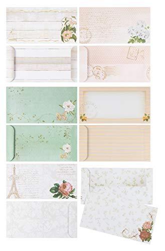 Floral Vintage Stationery Paper and Envelopes Set (90 Pieces)