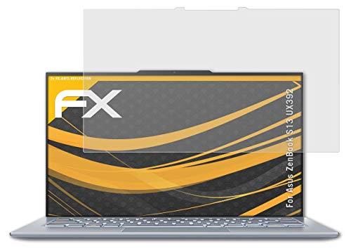 atFolix Panzerfolie kompatibel mit Asus ZenBook S13 UX392 Schutzfolie, entspiegelnde & stoßdämpfende FX Folie (2X)