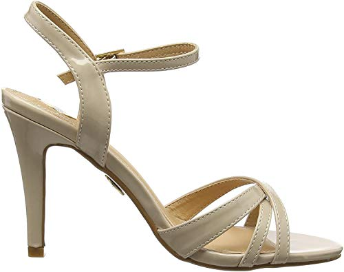 Buffalo Shoes Damen 312703 PATENT PU Knöchelriemchen, Beige (BEIGE 01), 41 EU
