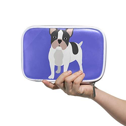 LORONA Franse Bulldog Tekening Potlood Case Cosmetische Tas Grote Capaciteit Organizer Make-up Koppeling Tas voor Travel School