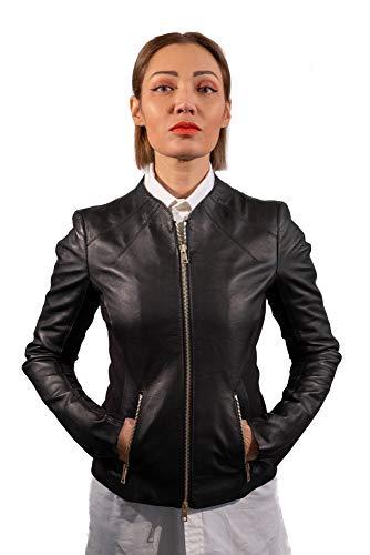 Montecristo Giacca Vera Pelle da Donna (Nero, XL)