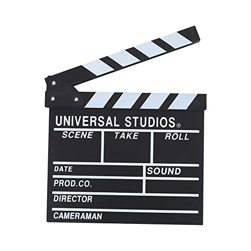 Tablero de película de película, escena de acción de corte de tablilla de director de madera, tablero de claqueta para cámara Estudio de cine Inicio Película de video 30 x 27 cm