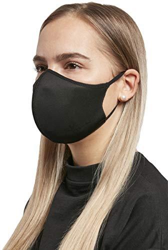 Urban Classics Unisex Face Mask 3-Pack Bufanda de moda, Black, XS/S Niños