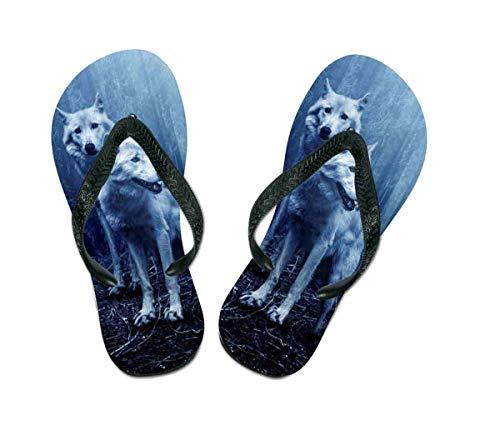 Flip Flops Wolf - Schuhe / Slipper Badeschuhe Flip-Flop Badelatschen Badeschlappen Sandale Zehentrenner, Gr. 25-27
