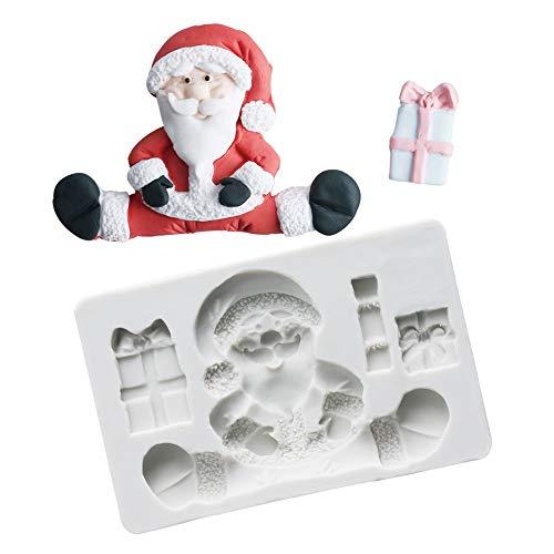 Joinor 3D Christmas Santa Claus Silicone Fondant Molds Chocolate Gumpaste Fondant Cake Decorating Tools