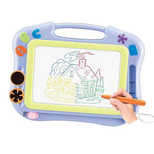 Toys for 2 Year Old Boys,Magnetic Drawing Board Educational Toys for Toddles Age 1 2 3, Travel Size Erasable Colorful Etch A Sketch for Kids Age 1-3