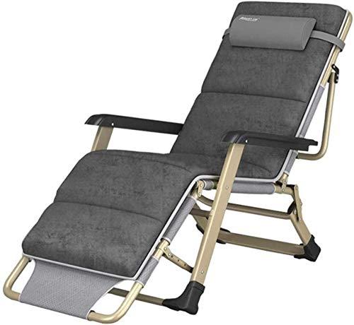 Liegestuhl klappbar Liege, Relaxer Liegestühle Null Schwerkraftstühle Deck Falten Sunbed Super Breitklapper Strand liegende Stoff Gartenstuhl mit Baumwollpolsterung für Terrasse im Freien,Gartenliege