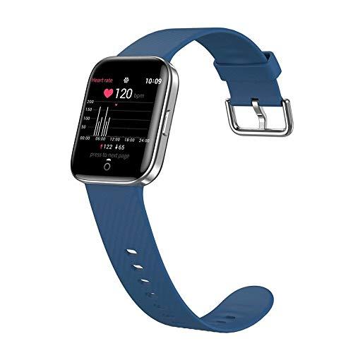 AUBERSIT Fitness Tracker, Smartwatch da Donna con Display X2 per Tutte Le Lingue, Smartwatch da Uomo in Lega di Zinco IP68 180Mah Ultra Sottile, per iOS Android,Blu