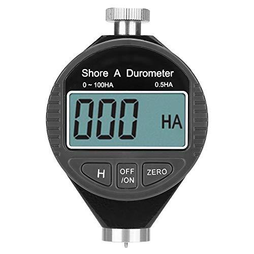 Akozon Härteprüfgerät Digital 100HD Typ A Durometer Shore Rubber Härteprüfgerät LCD-Display Messgerät Soft Materials Durometer Messgerät