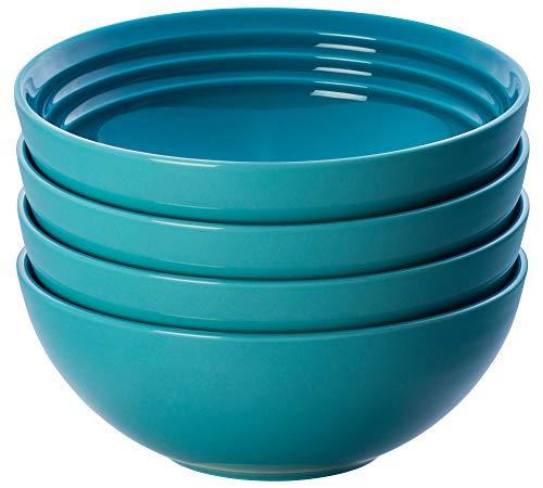 Le Creuset Soup Bowls, Color Caribbean