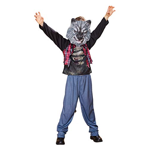 EraSpooky Traje de Hombre Lobo Disfraz Máscara Cosplay Traje de Fiesta de Halloween Party