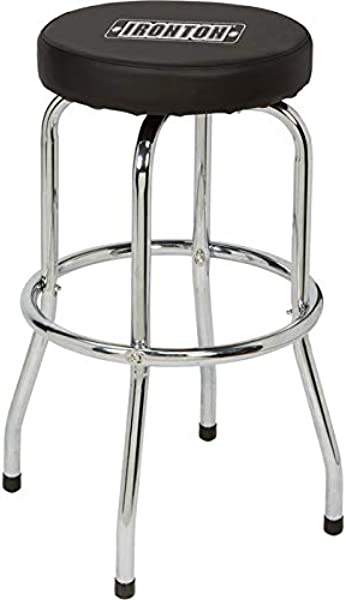 Ironton Swivel Shop Stool With Chrome Legs Steel 300 Lb Capacity 29in Seat Height
