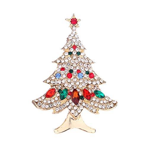 Demarkt Weihnachtsbaum Brosche Weihnachtsbrosche Pin Weihnachten Schmuck Kleid Dekorationen