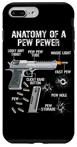 iPhone 7 Plus/8 Plus Funny Anatomy Of A Pew Pewer - Ammo Gun - Amendment Saying Case