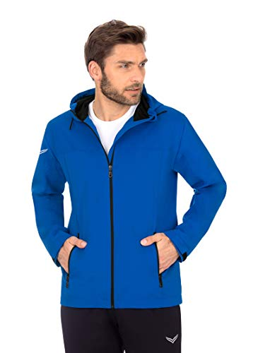 Trigema 608904 Blouson de Pluie, Bleu électrique, XXXL Homme