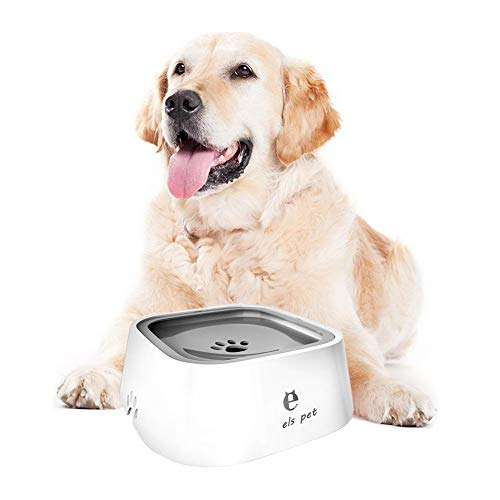 Rehomy Dog Water Bowl, Anti-Spill Pet Slow Water Feeder Automatic Water Dispenser, Vehicle Carried Dog Water Bowl for Dogs Cats Pets