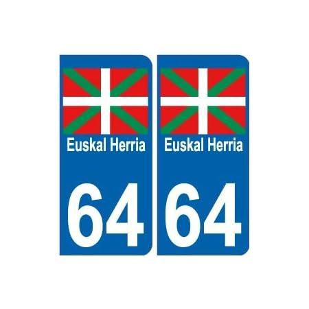 EUSKAL HERRIA EH Autocollant pour Casque de Moto Sticker Identit/é Noir Couleur Sticker